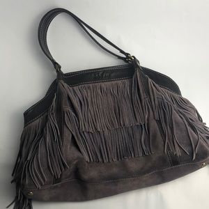 Hogan suede fringe handbag